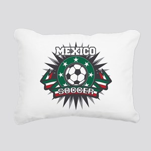 Mexico Soccer Ball Rectangular Canvas Pillow