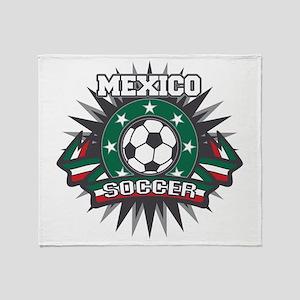 Mexico Soccer Ball Throw Blanket