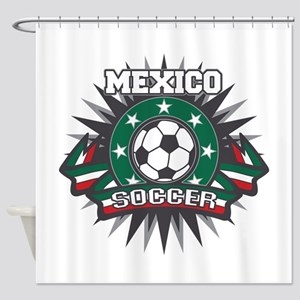 Mexico Soccer Ball Shower Curtain