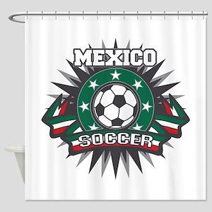 Mexico Soccer Ball Shower Curtain