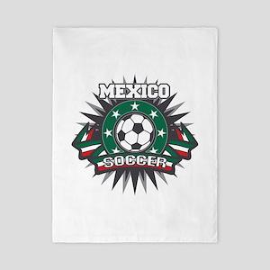 Mexico Soccer Ball Twin Duvet
