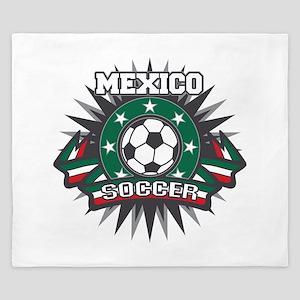 Mexico Soccer Ball King Duvet