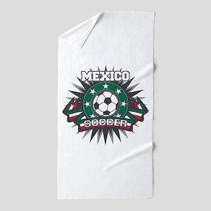 Mexico Soccer Ball Beach Towel
