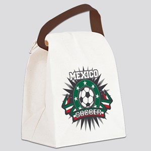 Mexico Soccer Ball Canvas Lunch Bag