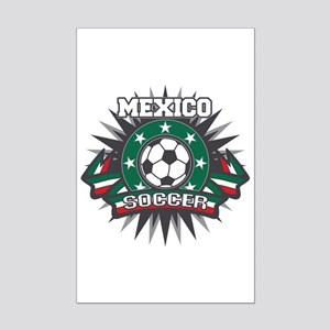 Mexico Soccer Ball Mini Poster Print