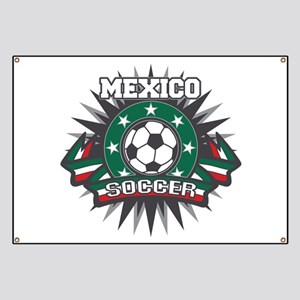 Mexico Soccer Ball Banner