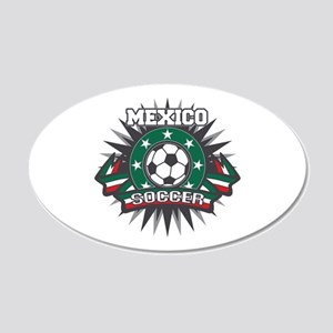 Mexico Soccer Ball 20x12 Oval Wall Decal