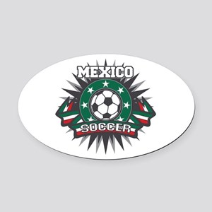Mexico Soccer Ball Oval Car Magnet