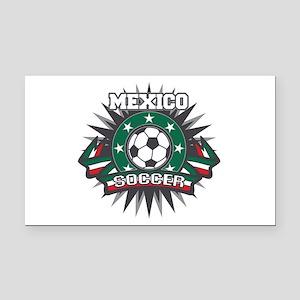 Mexico Soccer Ball Rectangle Car Magnet