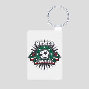 Mexico Soccer Ball Aluminum Photo Keychain