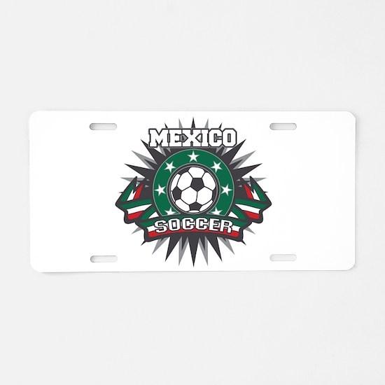 Mexico Soccer Ball Aluminum License Plate