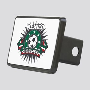 Mexico Soccer Ball Rectangular Hitch Cover
