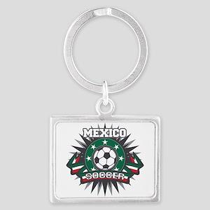 Mexico Soccer Ball Landscape Keychain