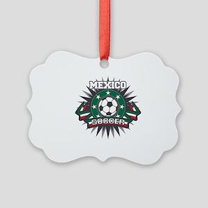 Mexico Soccer Ball Picture Ornament