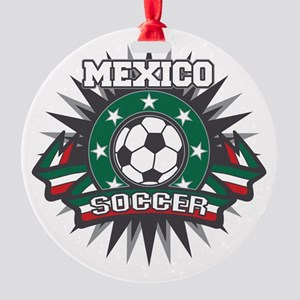 Mexico Soccer Ball Round Ornament