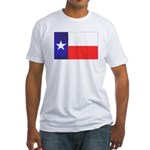 Texas Flag v4 Fitted T-Shirt