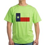 Texas Flag v4 Green T-Shirt