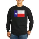 Texas Flag v4 Long Sleeve Dark T-Shirt