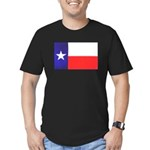 Texas Flag v4 Men's Fitted T-Shirt (dark)
