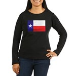 Texas Flag v4 Women's Long Sleeve Dark T-Shirt