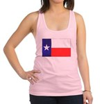 Texas Flag v4 Racerback Tank Top