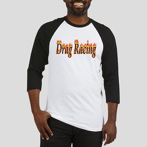 Drag Racing Flame Baseball Jersey