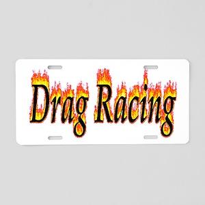 Drag Racing Flame Aluminum License Plate