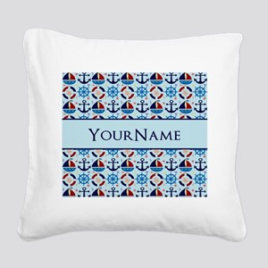 Nautical Anchor Ships Persona Square Canvas Pillow