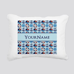 Nautical Anchor Ships Pe Rectangular Canvas Pillow