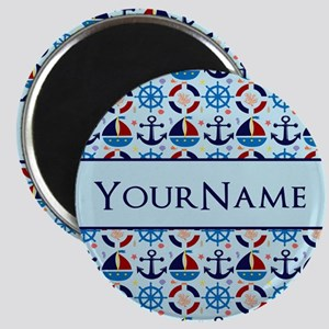 Nautical Anchor Ships Personalized Magnet