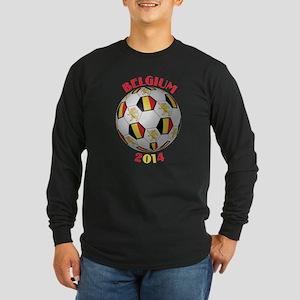 Belgium Football Long Sleeve Dark T-Shirt