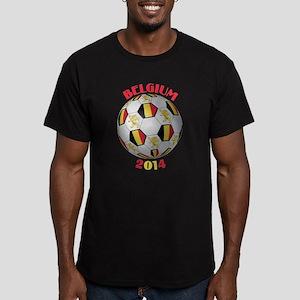Belgium Football Men's Fitted T-Shirt (dark)