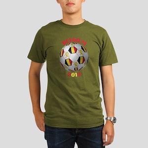 Belgium Football Organic Men's T-Shirt (dark)