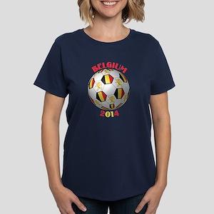 Belgium Football Women's Dark T-Shirt