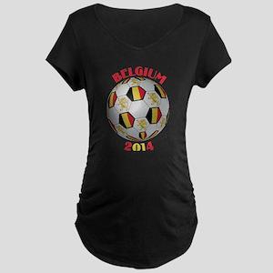 Belgium Football Maternity Dark T-Shirt