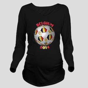 Belgium Football Long Sleeve Maternity T-Shirt