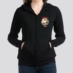 Belgium Football Women's Zip Hoodie