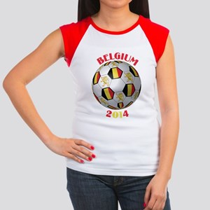 Belgium Football Women's Cap Sleeve T-Shirt