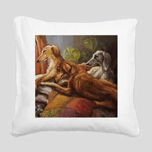Sun Worshippers Square Canvas Pillow
