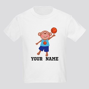 Personalized Basketball Monkey T-Shirt