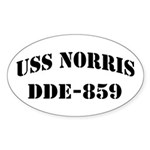USS NORRIS Sticker (Oval)