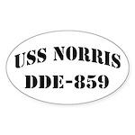 USS NORRIS Sticker (Oval)
