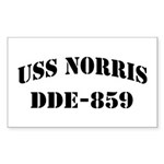 USS NORRIS Sticker (Rectangle)