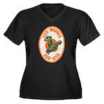 USS NORRIS Women's Plus Size V-Neck Dark T-Shirt