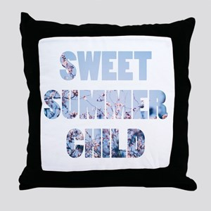 sweet summer child Throw Pillow
