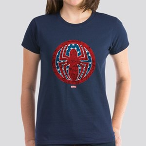 Stars, stripes, and spiders Women's Dark T-Shirt