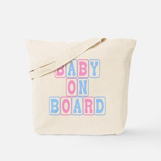 Baby On Board (blocks) Tote Bag