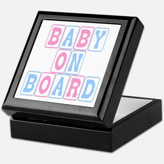 Baby On Board (blocks) Keepsake Box
