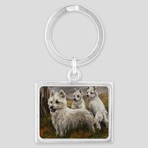 West Highland Terrier Landscape Keychain