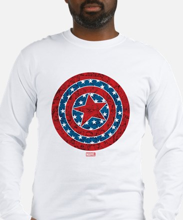 Stars and Stripes Captain Amer Long Sleeve T-Shirt